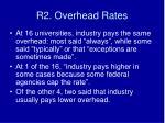 r2 overhead rates