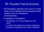r5 royalty free exclusives