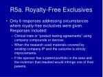 r5a royalty free exclusives