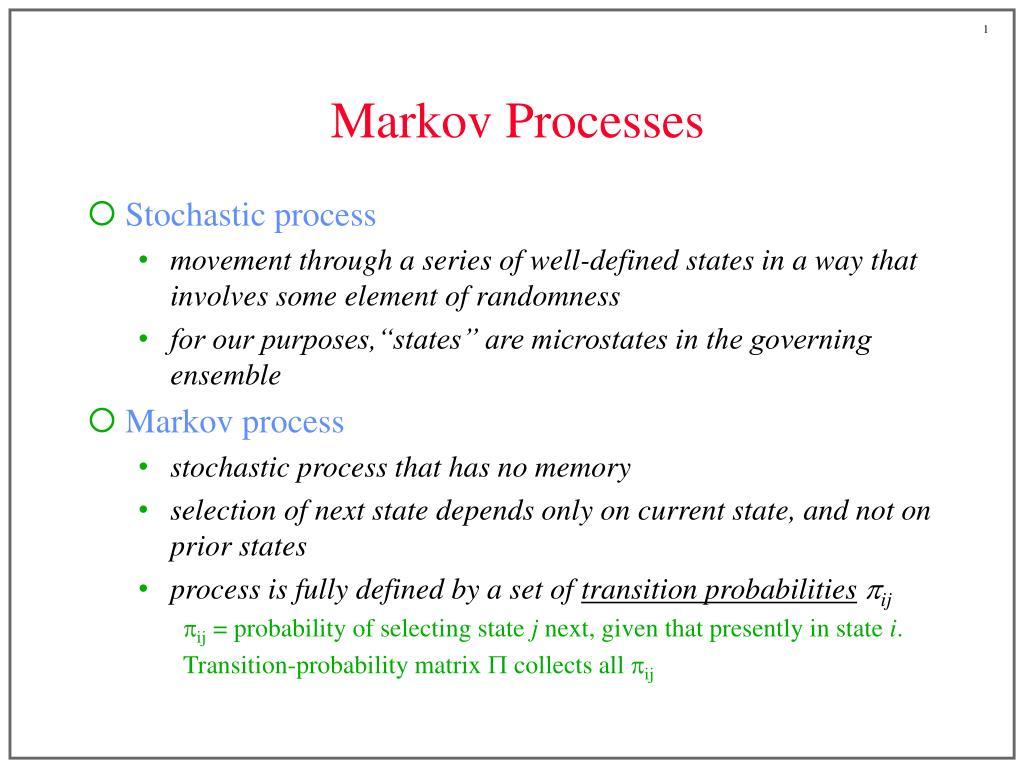 markov processes l.