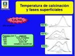 temperatura de calcinaci n y fases superficiales