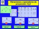 vibraciones y operadores de proyecci n h 2 o
