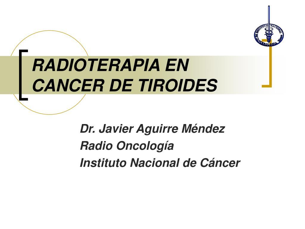 radioterapia en cancer de tiroides l.