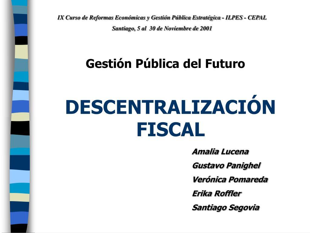 descentralizaci n fiscal l.