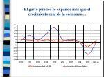 el gasto p blico se expande m s que el crecimiento real de la econom a