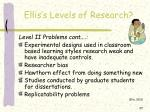 ellis s levels of research37