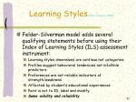 learning styles felder spurlin 200531