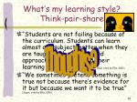 what s my learning style think pair share10