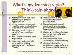 what s my learning style think pair share6