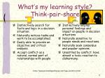 what s my learning style think pair share7