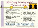 what s my learning style think pair share8