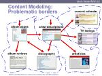 content modeling problematic borders