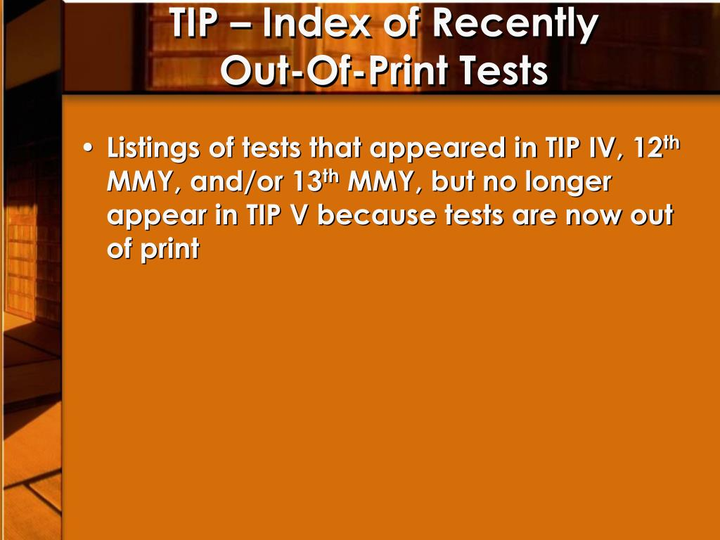 TIP – Index of Recently