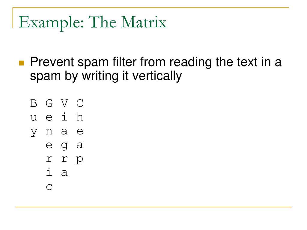 Example: The Matrix