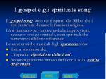 i gospel e gli spirituals song