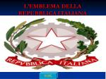 l emblema della repubblica italiana