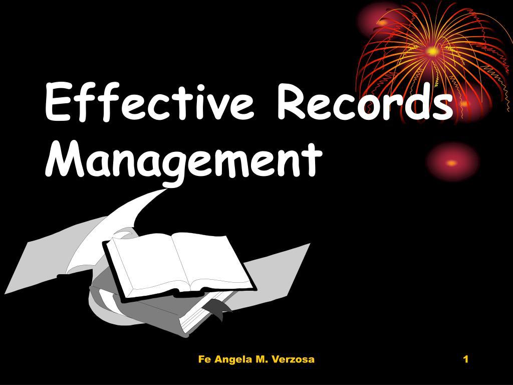 effective records management l.