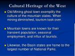 cultural heritage of the west