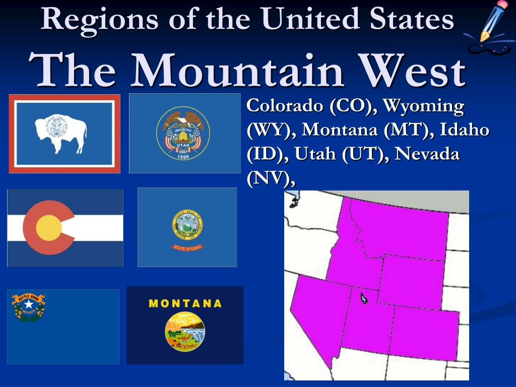 regions of the united states the mountain west l.