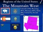 regions of the united states the mountain west