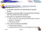 domain semantics definitions of domains