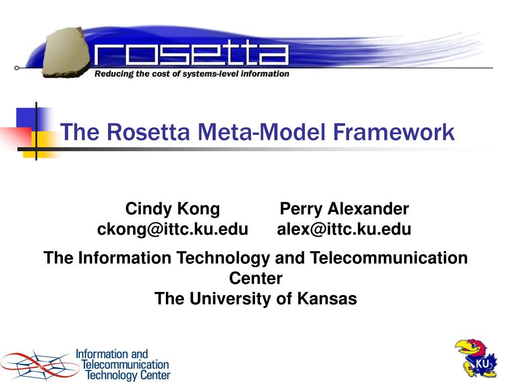 the rosetta meta model framework l.