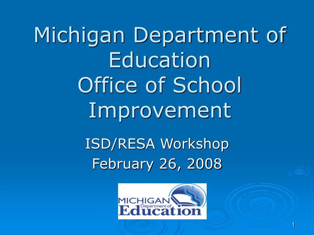 michigan department of education office of school improvement l.