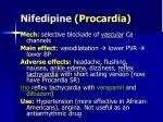 nifedipine procardia