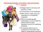 embracing design innovation and continuous improvement