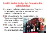 london double decker bus reassigned as mobile boutique