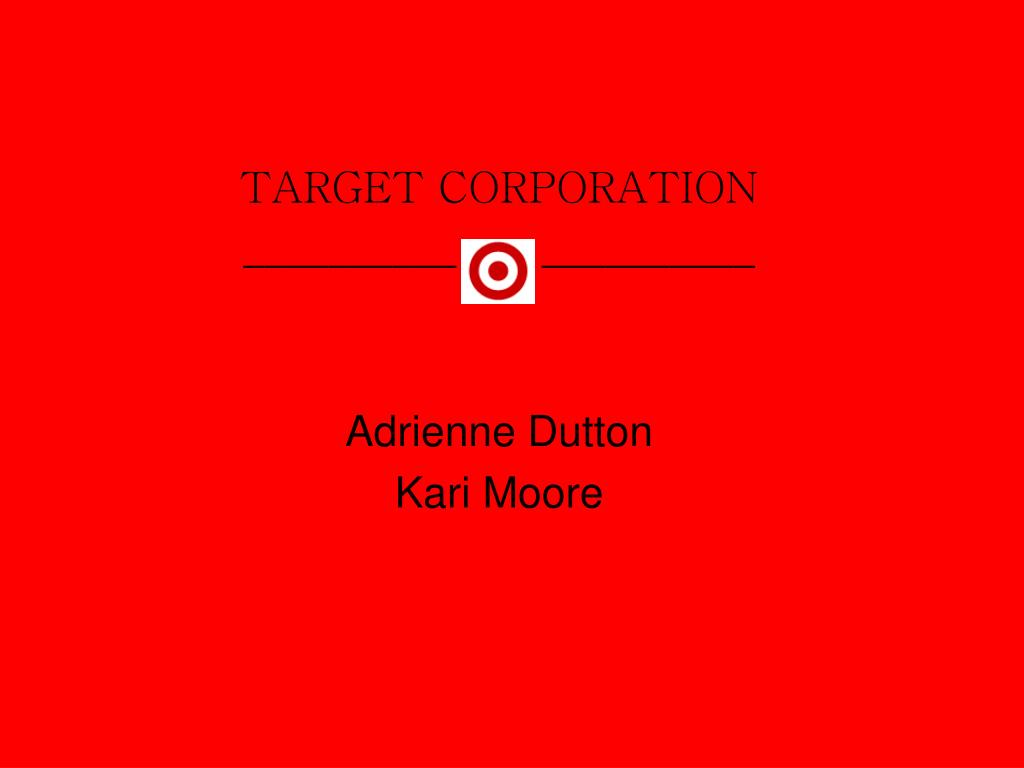 target corporation adrienne dutton kari moore l.