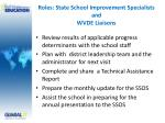 roles state school improvement specialists and wvde liaisons14