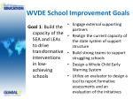 wvde school improvement goals4