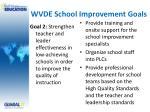 wvde school improvement goals5