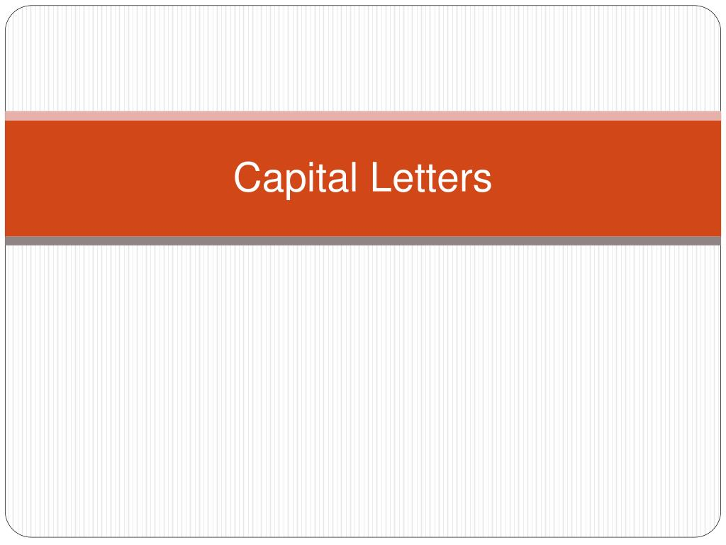 capital letters l.