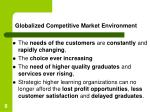 globalized competitive market environment