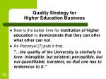 quality strategy for higher education business12