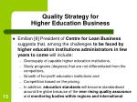 quality strategy for higher education business13