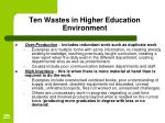 ten wastes in higher education environment25
