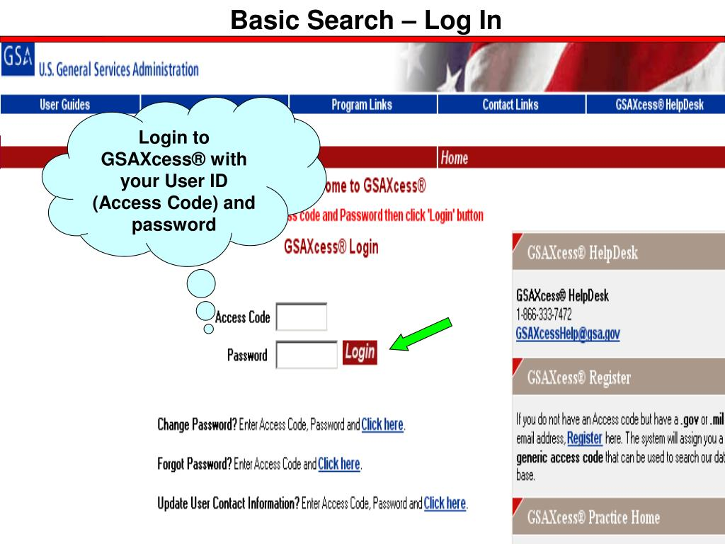 Basic Search – Log In