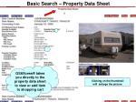 basic search property data sheet