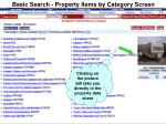 basic search property items by category screen11
