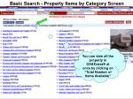 basic search property items by category screen13