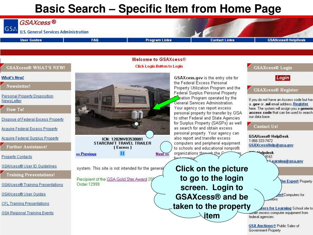 Basic Search – Specific Item from Home Page