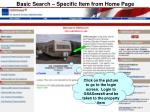 basic search specific item from home page