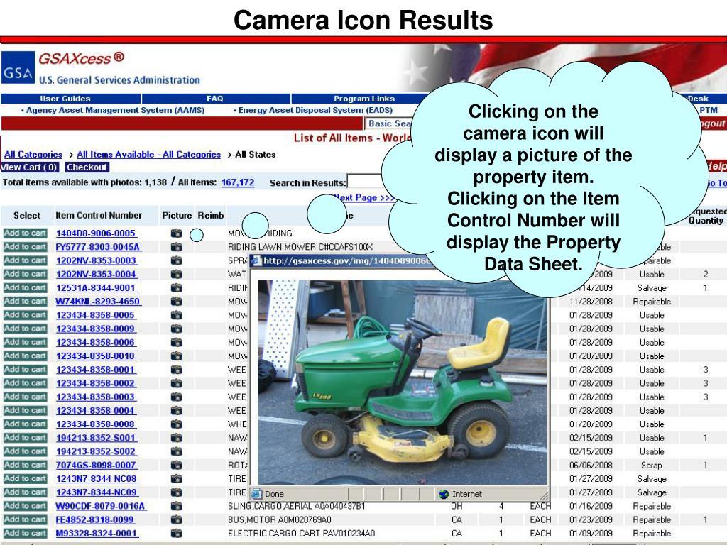 Camera Icon Results