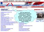 global search item name make model and manufacturer