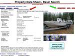 property data sheet basic search