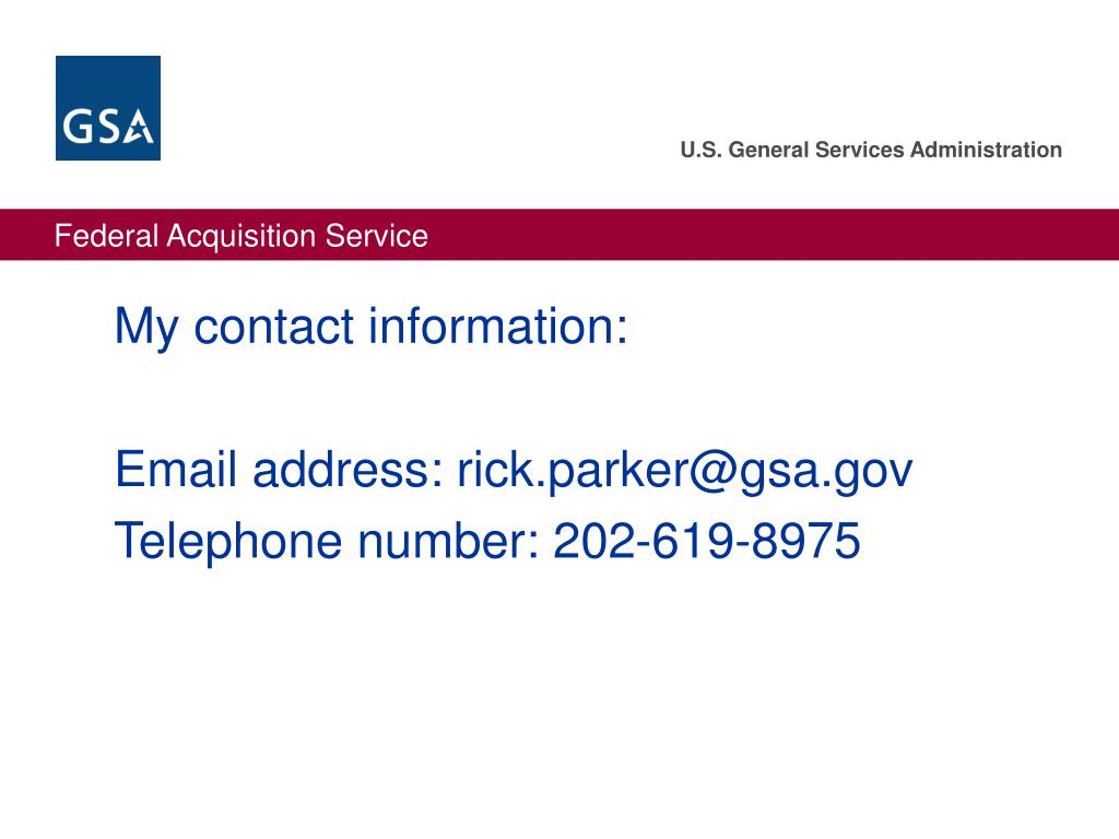 My contact information: