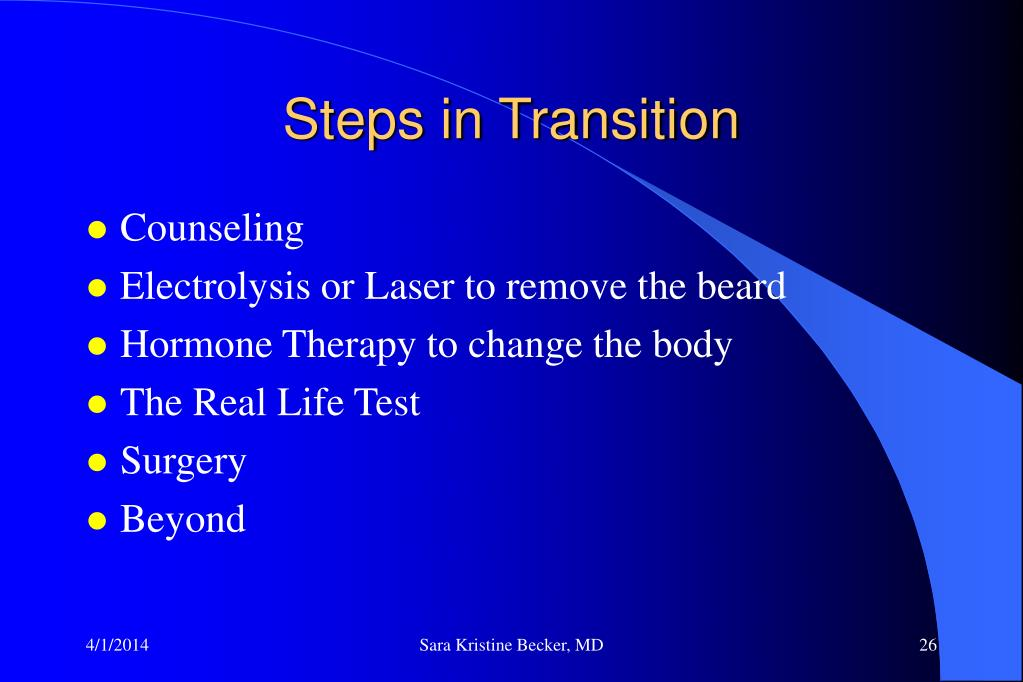 Steps in Transition